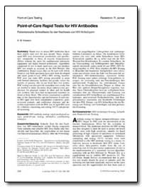 Point of Care Rapid Tests for Hiv Antibo... by Branson, B. M.