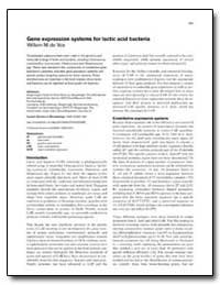 Gene Expression Systems for Lactic Acid ... by De Vos, Willem M.