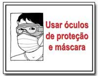 Usar Oculos de Protecao E Mascara by Department of Health and Human Services