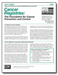 Cancer Registries : The Foundation for C... by Department of Health and Human Services