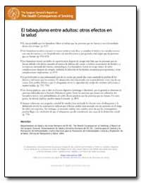 El Tabaquismo Entre Adultos : Otros Efec... by Department of Health and Human Services