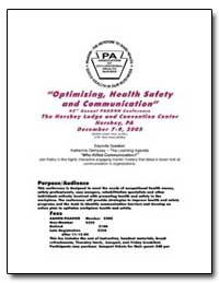 Optimizing, Health Safety and Communicat... by Department of Health and Human Services