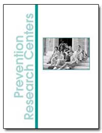 Prevention Research Centers by Department of Health and Human Services