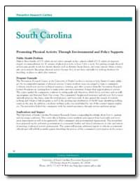 Prevention Research Centers South Caroli... by Department of Health and Human Services