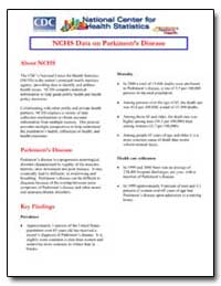 Nchs Data on Parkinson's Disease by Department of Health and Human Services