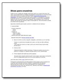 Dicas para Cruzeiros by Department of Health and Human Services