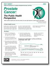 Prostate Cancer : The Public Health Pers... by Department of Health and Human Services