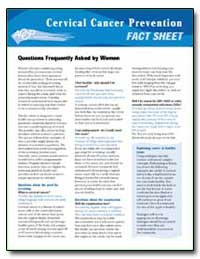 Cervical Cancer : Prevention Fact Sheet by Department of Health and Human Services