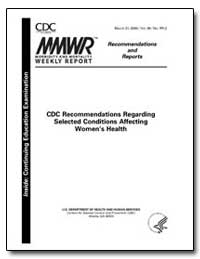 Cdc Recommendations Regarding Selected C... by Department of Health and Human Services
