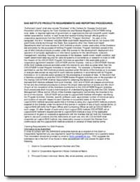 Sas Institute Products Requirements and ... by Department of Health and Human Services