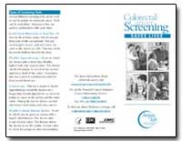 Screening Colorectal Cancer by Department of Health and Human Services