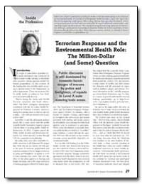 Terrorism Response and the Environmental... by Department of Health and Human Services