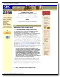 Fy 2003 Annual Report on Tribal Consulta... by Department of Health and Human Services