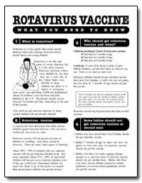 Rotavirus Vaccine by Department of Health and Human Services
