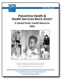 Preventive Health and Health Services Bl... by Department of Health and Human Services