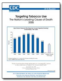 Targeting Tobacco Use the Nation's Leadi... by Schenker, Marc