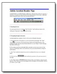 Adobe Acrobat Reader Tips by Department of Health and Human Services