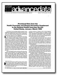 Provisional Data from the Health Promoti... by Department of Health and Human Services