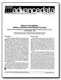Aging in the Eighties : Ability to Perfo... by Kovar, Mary Grace, Dr.