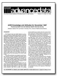Aids Knowledge and Attitudes for Novembe... by Dawson, Deborah A., Ph. D