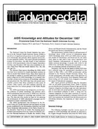 Aids Knowledge and Attitudes for Decembe... by Dawson, Deborah A., Ph. D