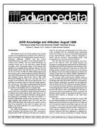 Aids Knowledge and Attitudes-August 1988... by Dawson, Deborah A., Ph. D