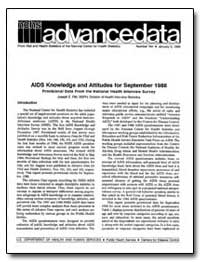 Aids Knowledge and Attitudes for Septemb... by Fitti, Joseph E., M. S. P. H.