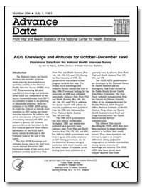 Aids Knowledge and Attitudes for October... by Hardy, Ann M.