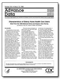 Characteristics of Elderly Home Health C... by Dey, Achintya N., M. A.