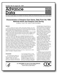 Characteristics of Hospice Care Users : ... by Haupt, Barbara J.