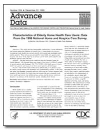 Characteristics of Elderly Home Health C... by Munson, Martha Little