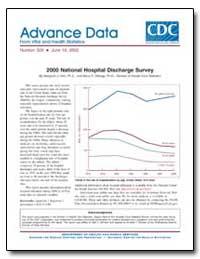 2000 National Hospital Discharge Survey by Hall, Margaret J., Ph. D.