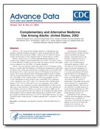 Complementary and Alternative Medicine U... by Barnes, Patricia M.