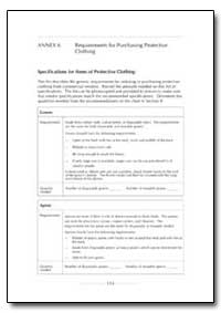 Requirements for Purchasing Protective C... by Department of Health and Human Services
