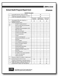 Arkansas School Health Program Report Ca... by Department of Health and Human Services