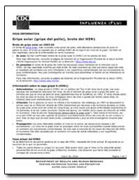 Hoja Informativa Gripe Aviar (Gripe Del ... by Department of Health and Human Services