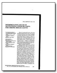 Interpretation and Use of Occupational E... by Hewett, Paul, Ph. D.