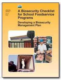 A Biosecurity Checklist for School Foods... by Department of Health and Human Services
