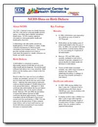Nchs Data on Birth Defects by Department of Health and Human Services