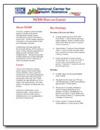 Nchs Data on Cancer by Department of Health and Human Services