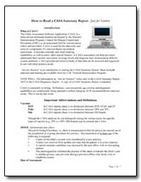 How to Read a Casa Summary Report : Just... by Department of Health and Human Services