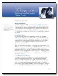 Chapter 9 : Carrier Testing for Cystic F... by Bradley, Linda A.