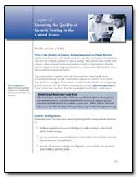 Chapter 10 : Ensuring the Quality Geneti... by Chen, Bin