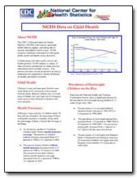Nchs Data on Child Health by Department of Health and Human Services