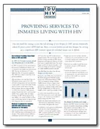 Providing Services to Inmates Living wit... by Department of Health and Human Services