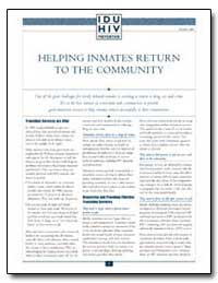 Helping Inmates Return to the Community by Department of Health and Human Services
