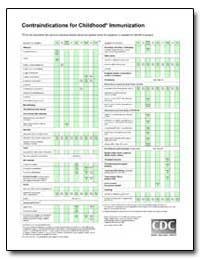 Contraindications for Childhood Immuniza... by Department of Health and Human Services