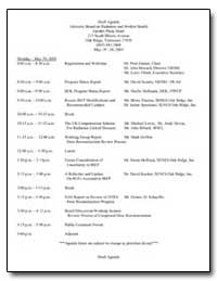 Draft Agenda Advisory Board on Radiation... by Department of Health and Human Services