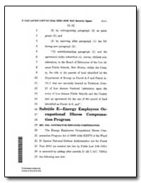 Subtitle E-Energy Employees Oc- 17 Cupat... by Department of Health and Human Services
