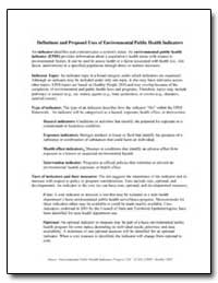 Definitions and Proposed Uses of Environ... by Department of Health and Human Services